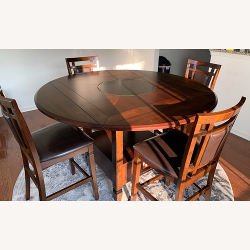 Used 5 Piece Drop Leaf Counter Height Dining Set for sale on AptDeco