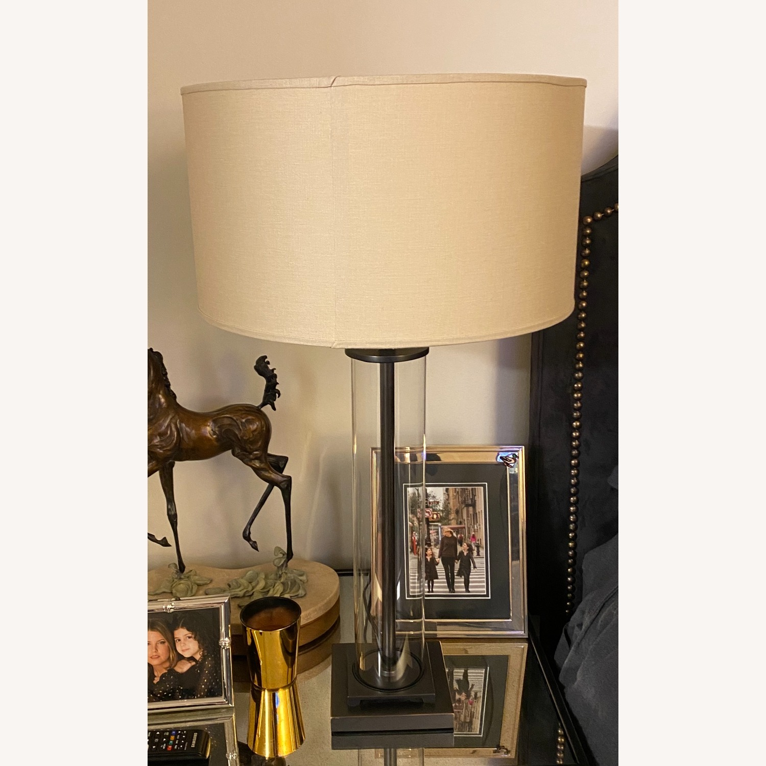 Restoration Hardware French Column Glass Table Lamp - image-1