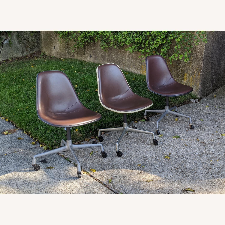 Herman Miller Vinyl Swivel Chair Set - image-1