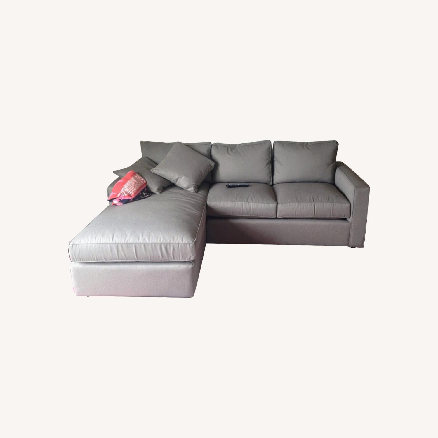 Room & Board Cement Gray Sectional - image-0