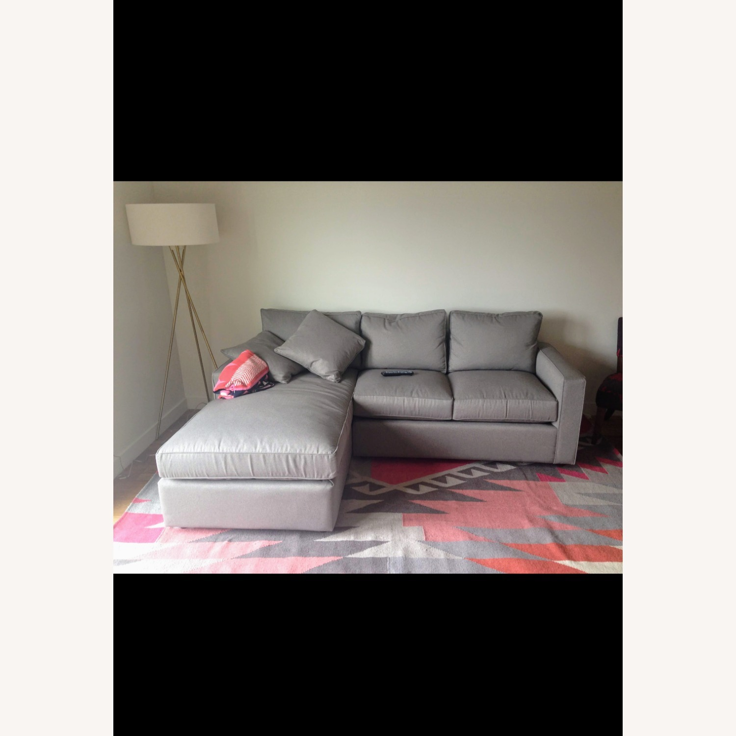 Room & Board Cement Gray Sectional - image-1