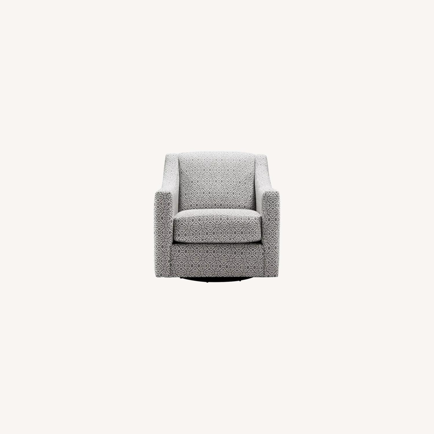 Raymour & Flanigan Pewter Accent Swivel Chair - image-0