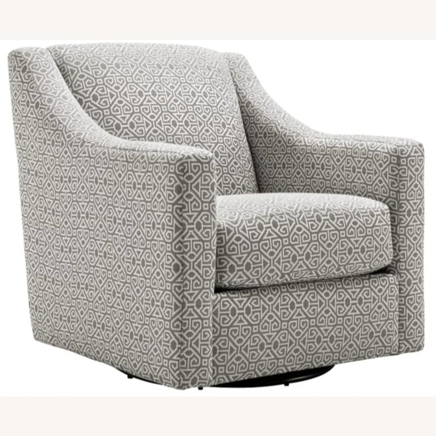 Raymour & Flanigan Pewter Accent Swivel Chair - image-2