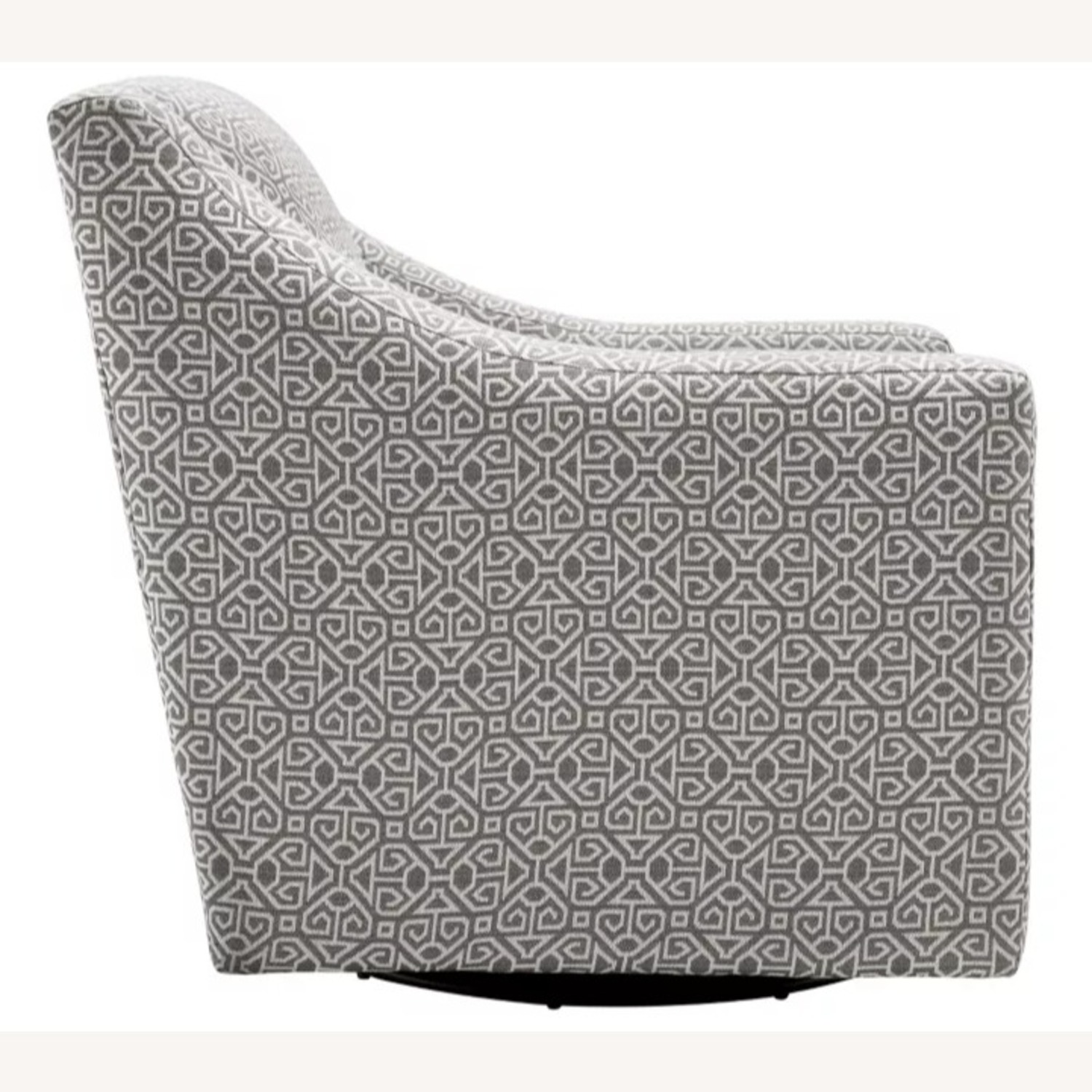 Raymour & Flanigan Pewter Accent Swivel Chair - image-4