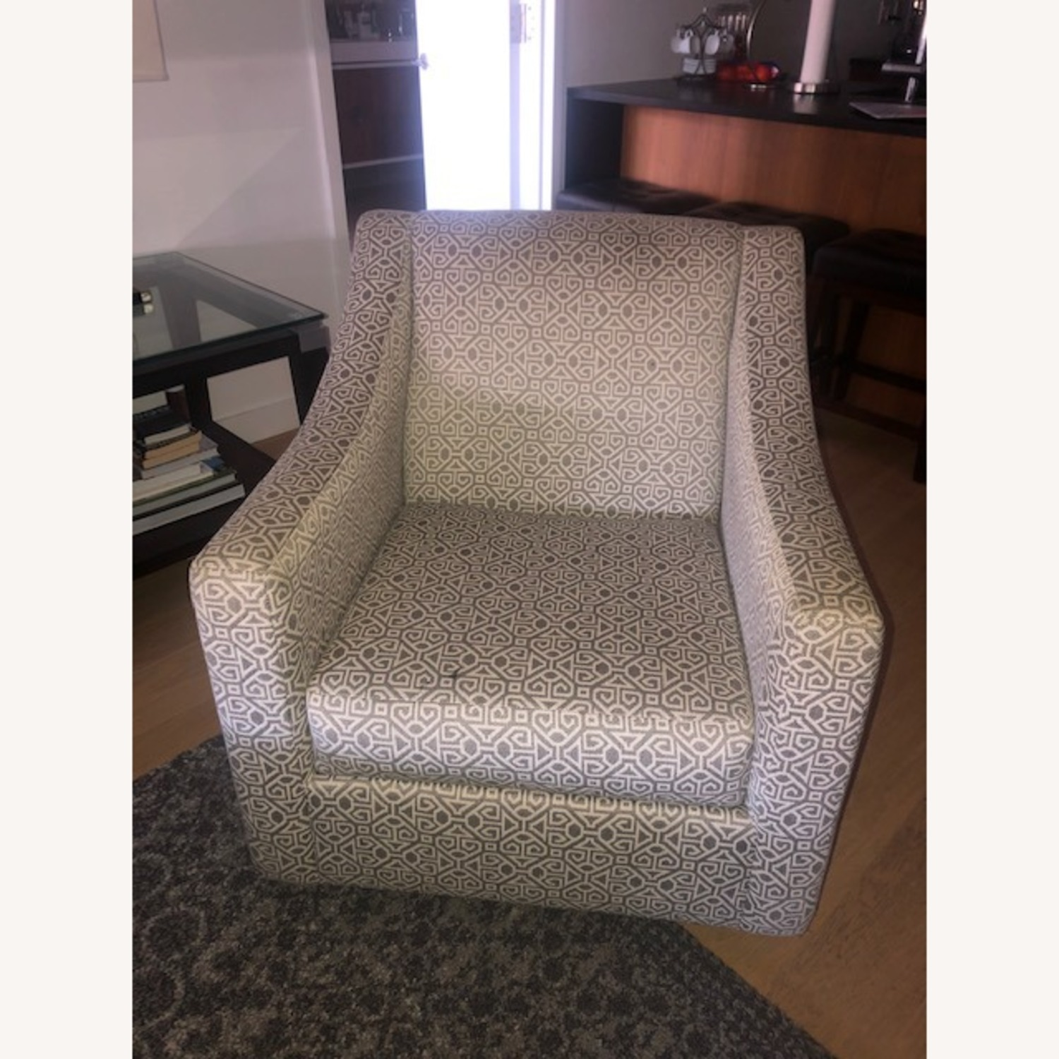 Raymour & Flanigan Pewter Accent Swivel Chair - image-5