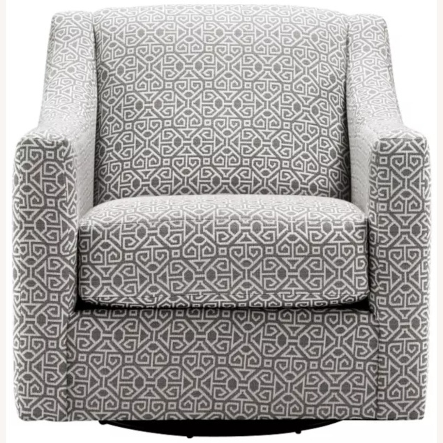 Raymour & Flanigan Pewter Accent Swivel Chair - image-1