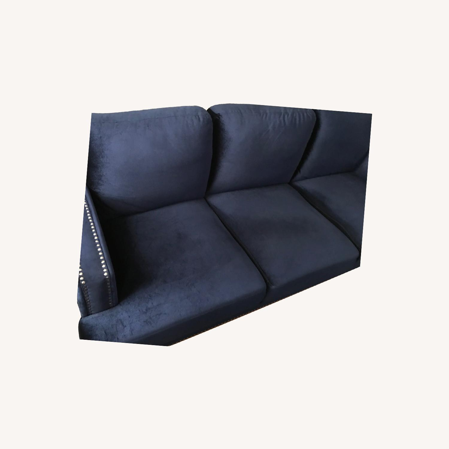 Kia Recessed Arm Sofa - Velvet - image-0