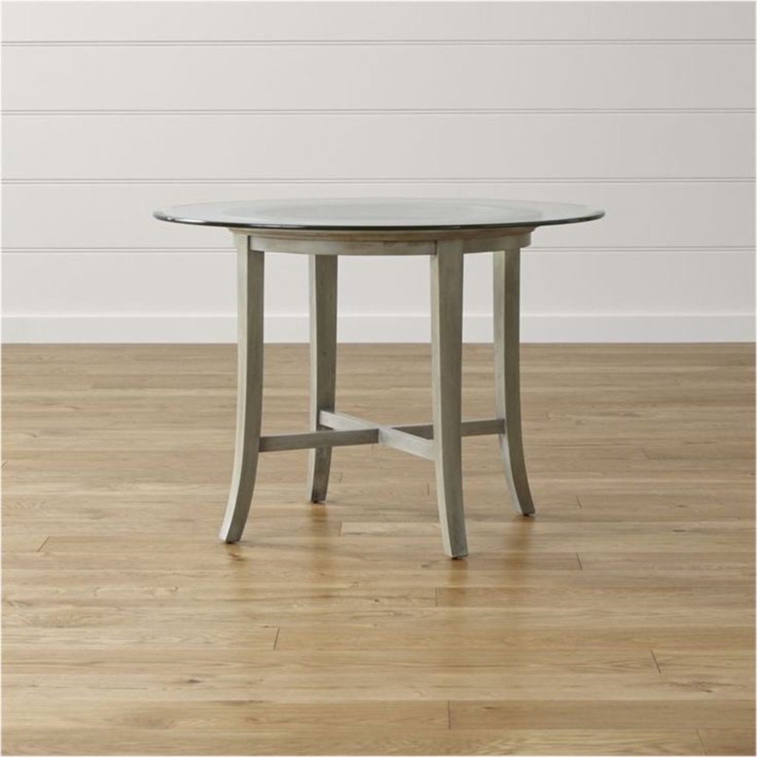 Crate and Barrel Round Glass Dining Table - image-6