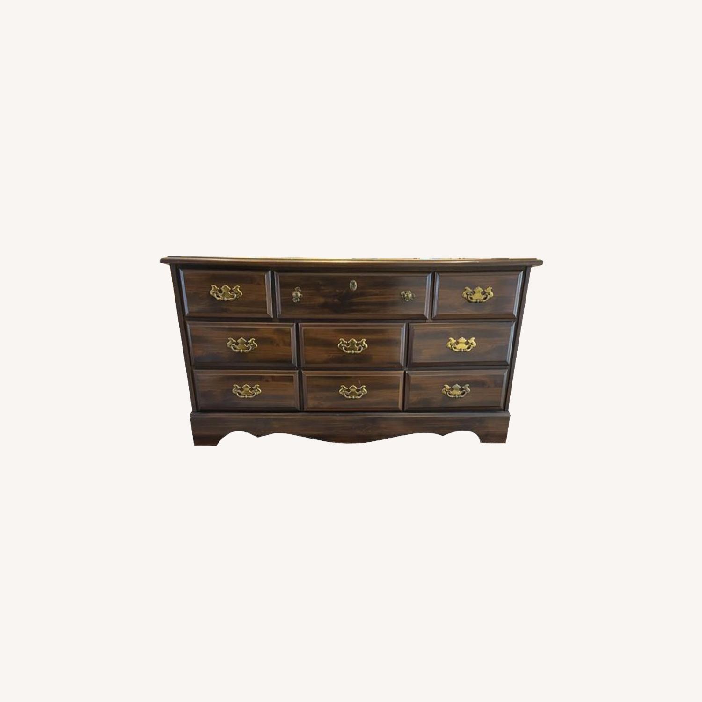 Vintage Antique 9 Drawer Dresser - image-0