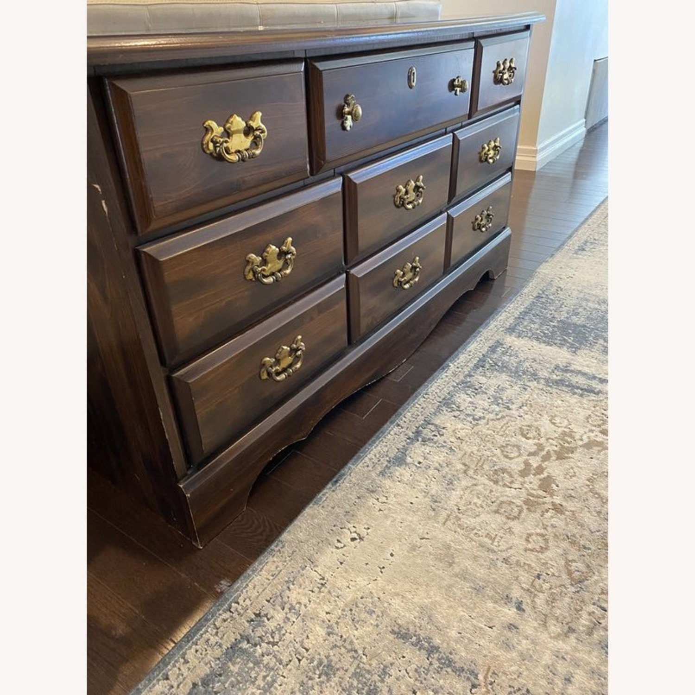 Vintage Antique 9 Drawer Dresser - image-4