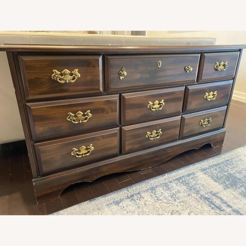 Vintage Antique 9 Drawer Dresser - image-3