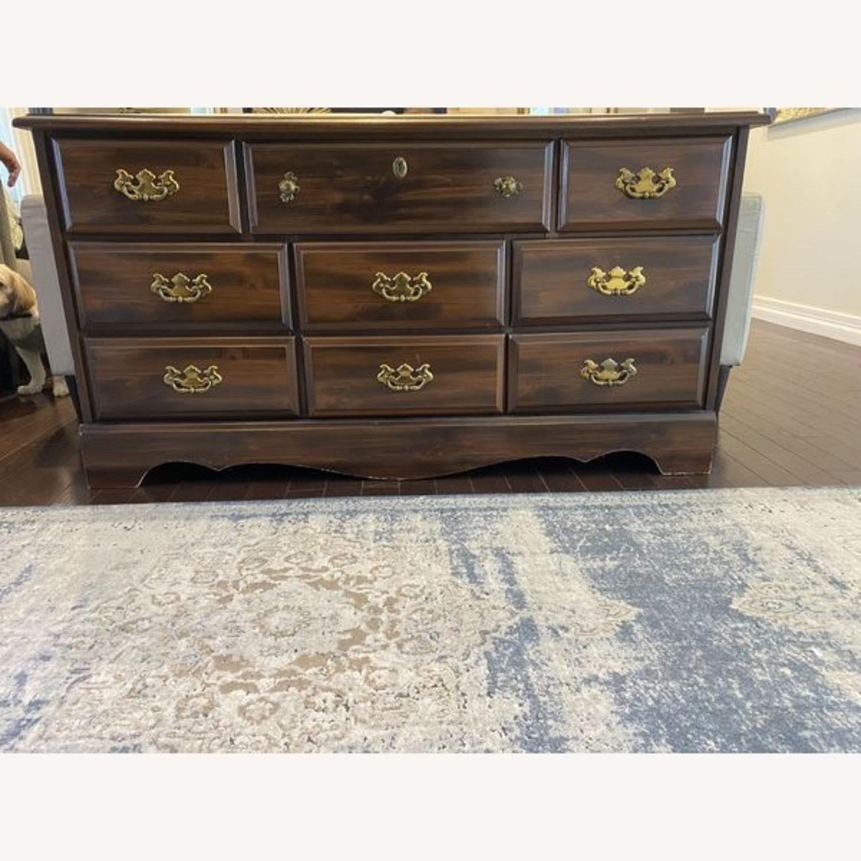 Vintage Antique 9 Drawer Dresser - image-1