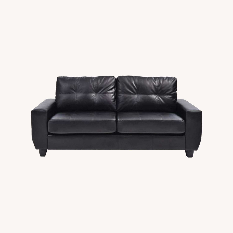 Raymour & Flanigan Black Nyla 2-Seater - image-0