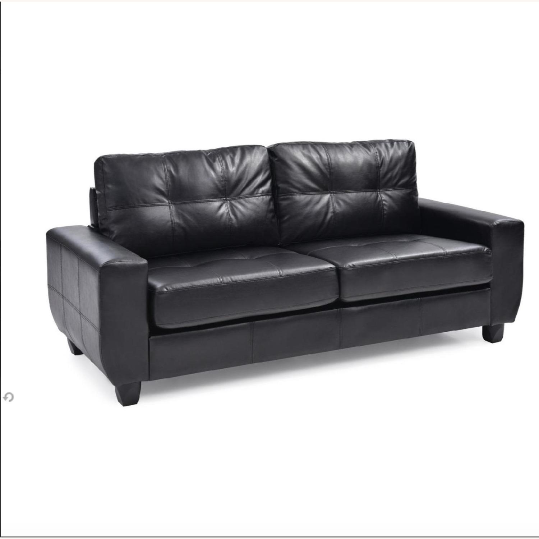 Raymour & Flanigan Black Nyla 2-Seater - image-2