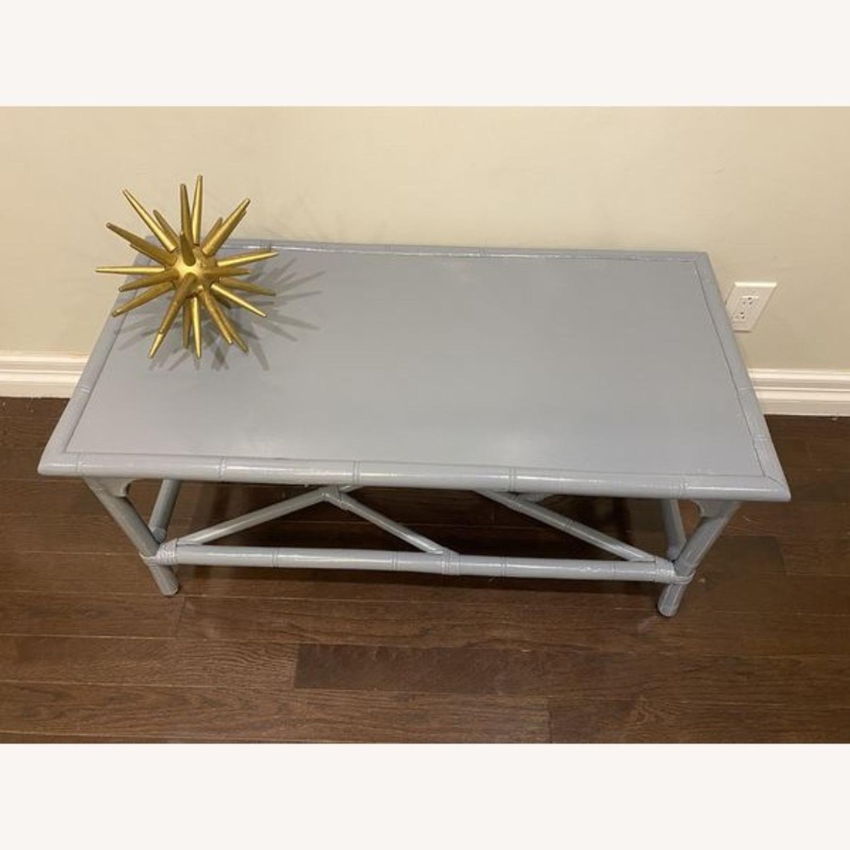 Lightweight Gray Latticework Coffee Table - image-4