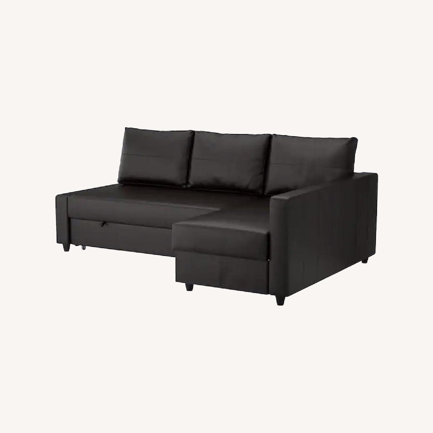 IKEA Black Sleeper Sofa - image-0