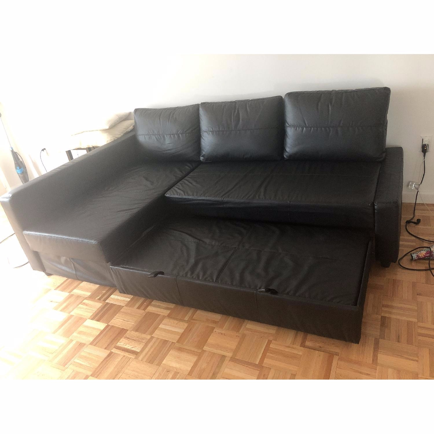 IKEA Black Sleeper Sofa - image-4