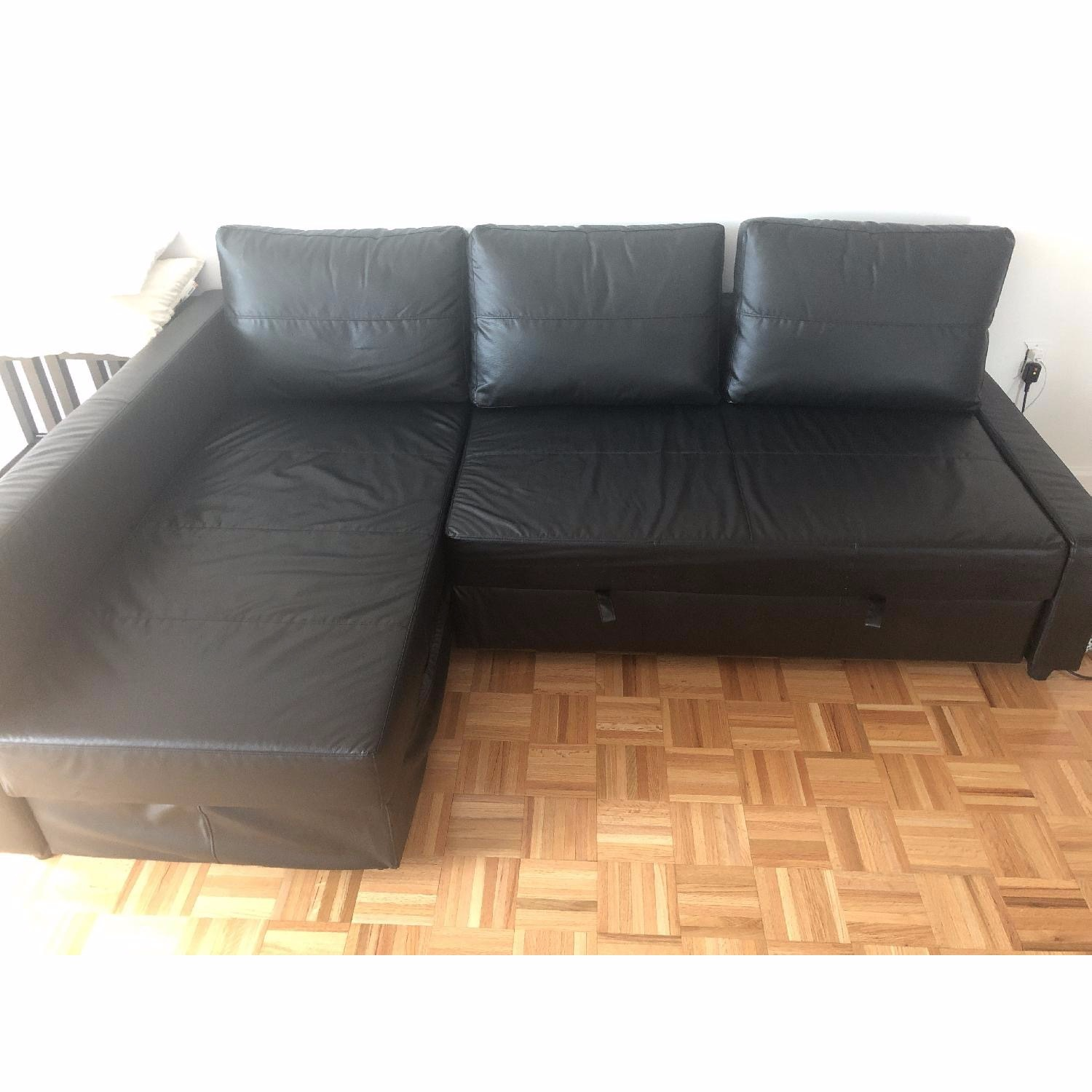 IKEA Black Sleeper Sofa - image-3