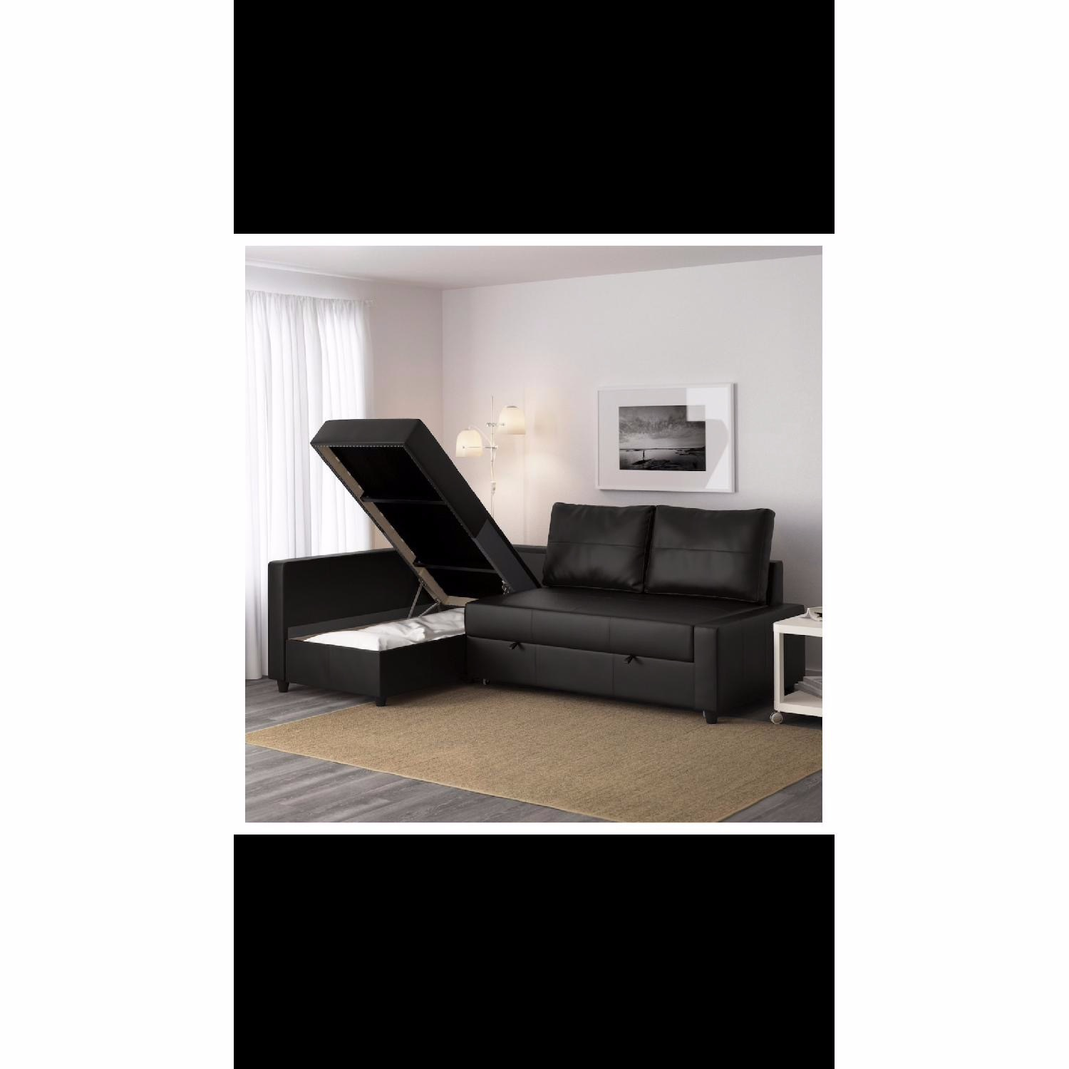IKEA Black Sleeper Sofa - image-6