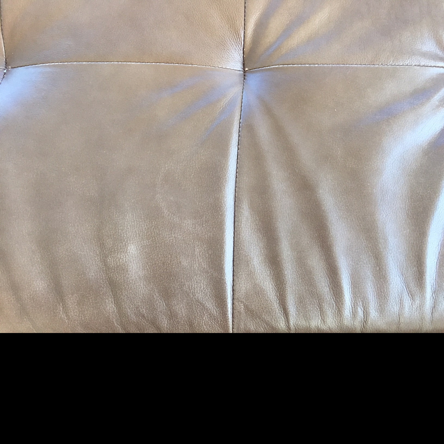 Macy's Martino Leather Chaise Sectional Sofa - image-4