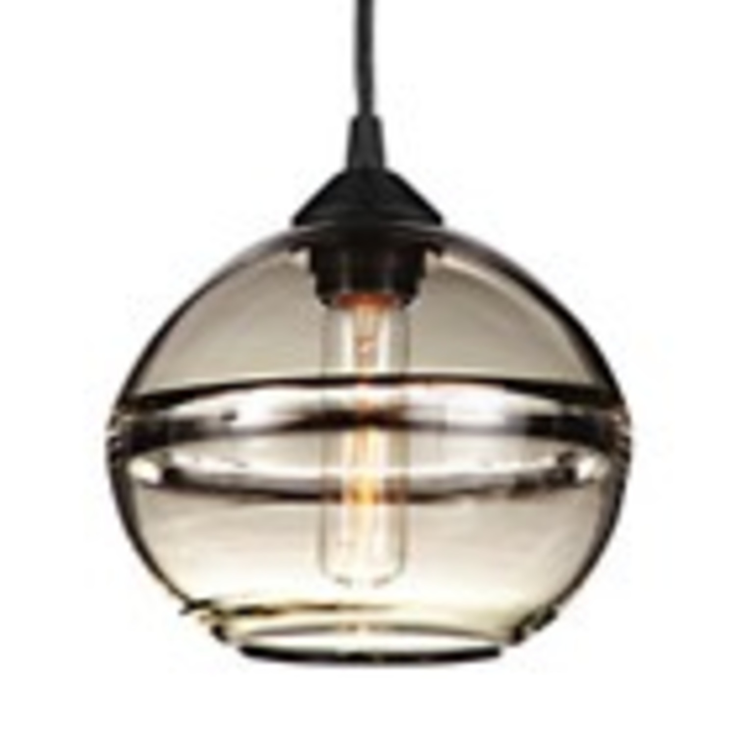 Room and Board Banded Pendant Light (1) - image-1