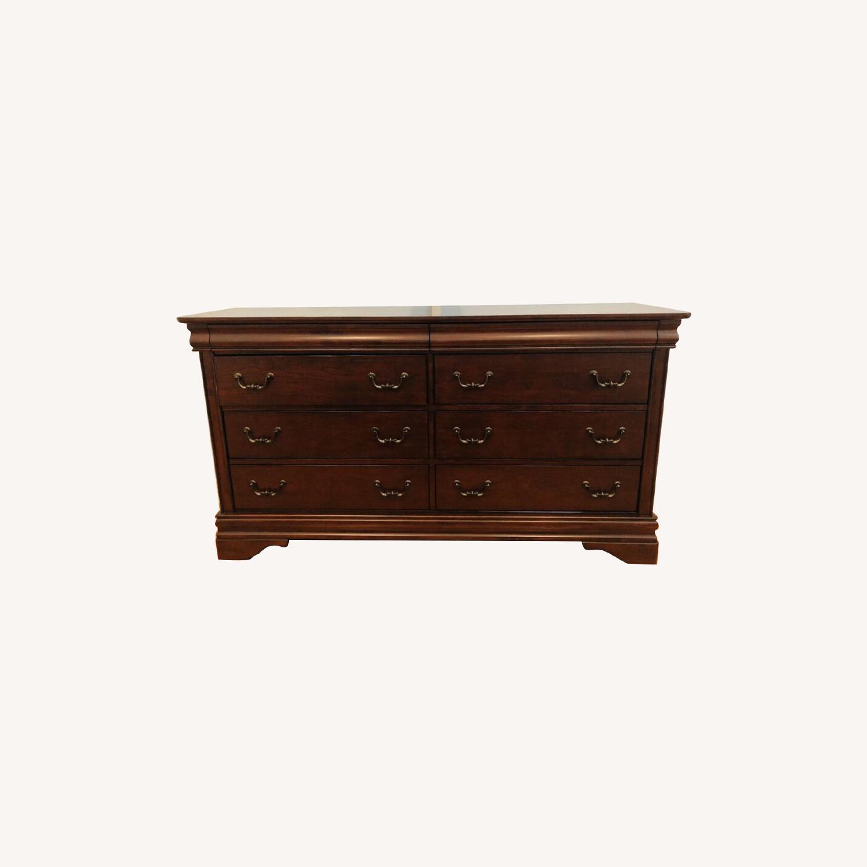 Wayfair Alcott Hill Mahogany 6 Drawer Double Dresser - image-0
