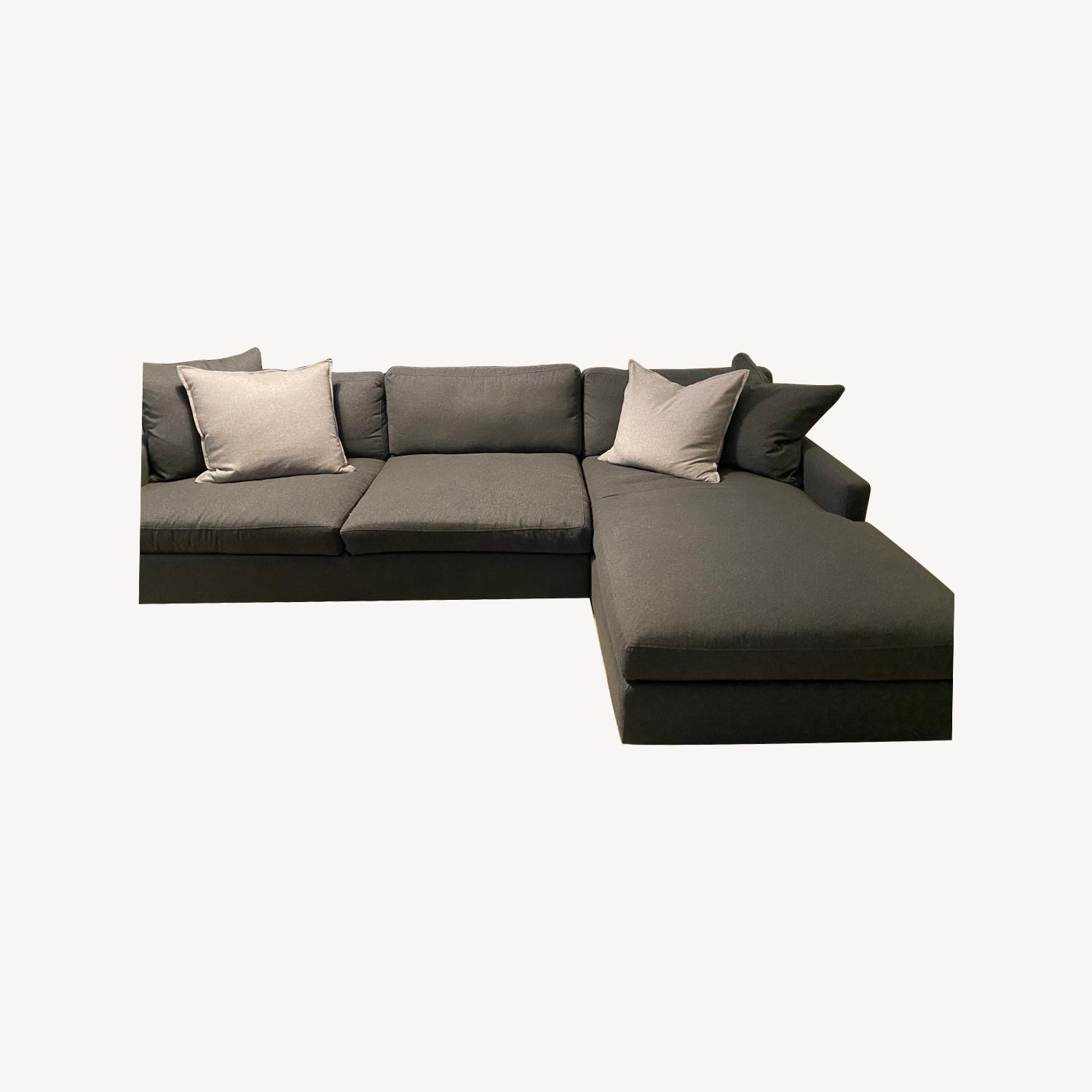 Room & Board Charcoal Sectional - image-0