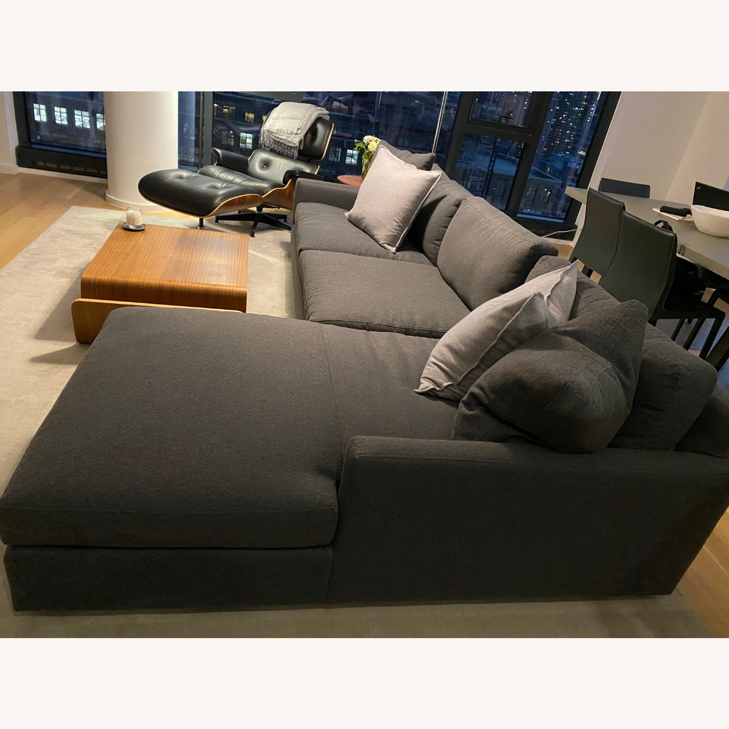 Room & Board Charcoal Sectional - image-3