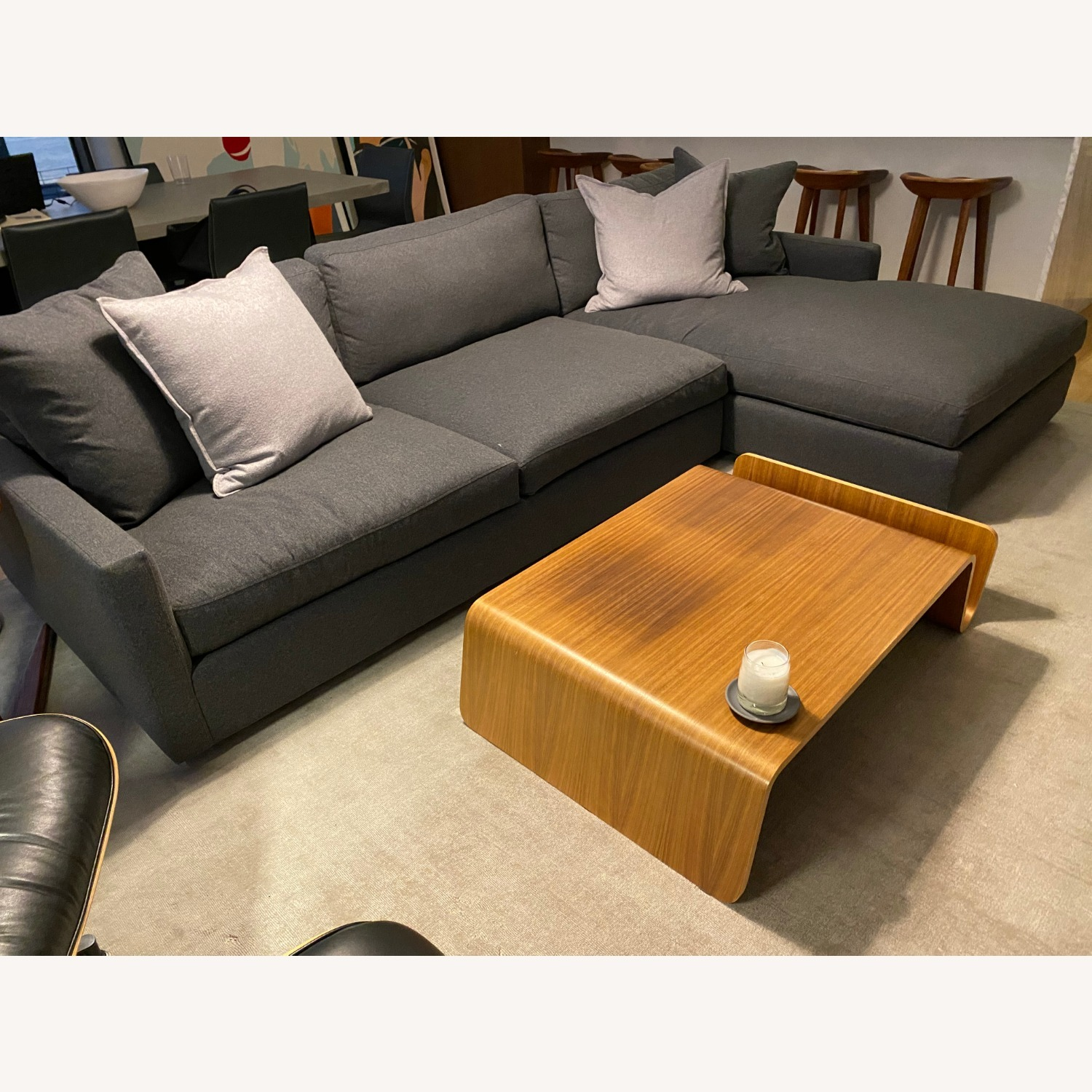 Room & Board Charcoal Sectional - image-4