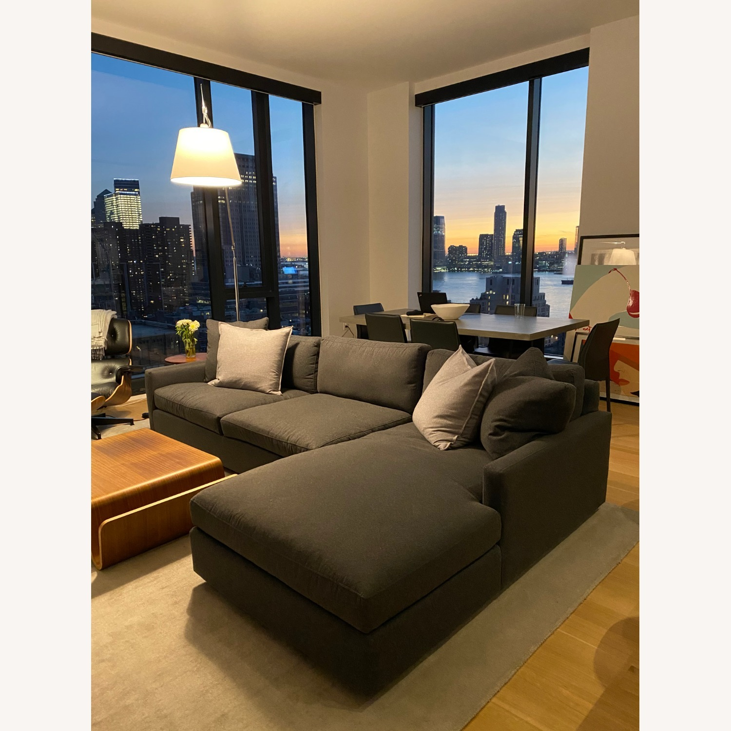 Room & Board Charcoal Sectional - image-2
