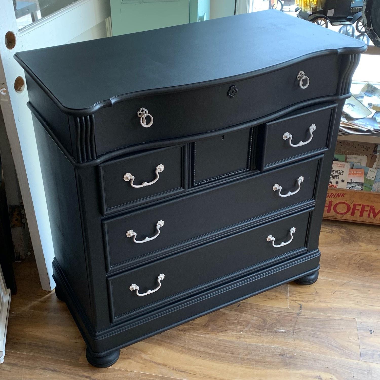 Vintage Traditional Painted Highboy Dresser - image-4