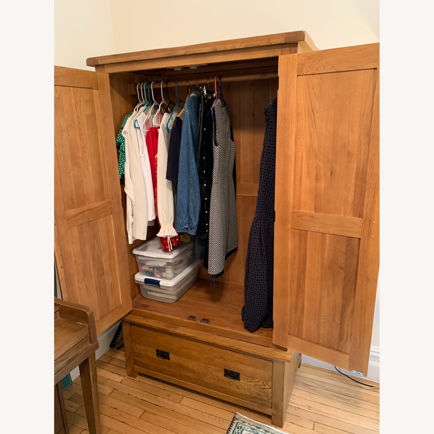 Solid Wood Armoire - image-3