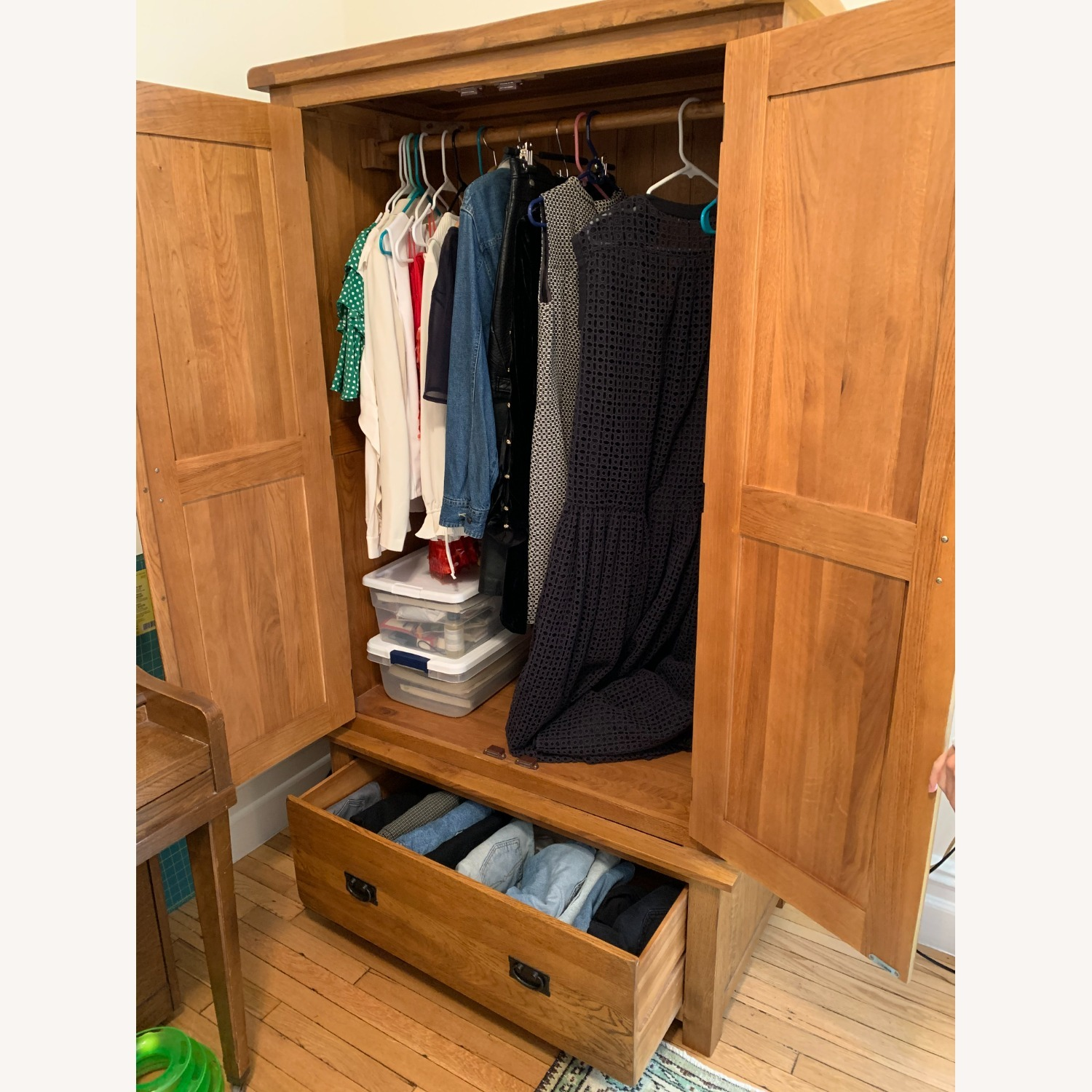 Solid Wood Armoire - image-5