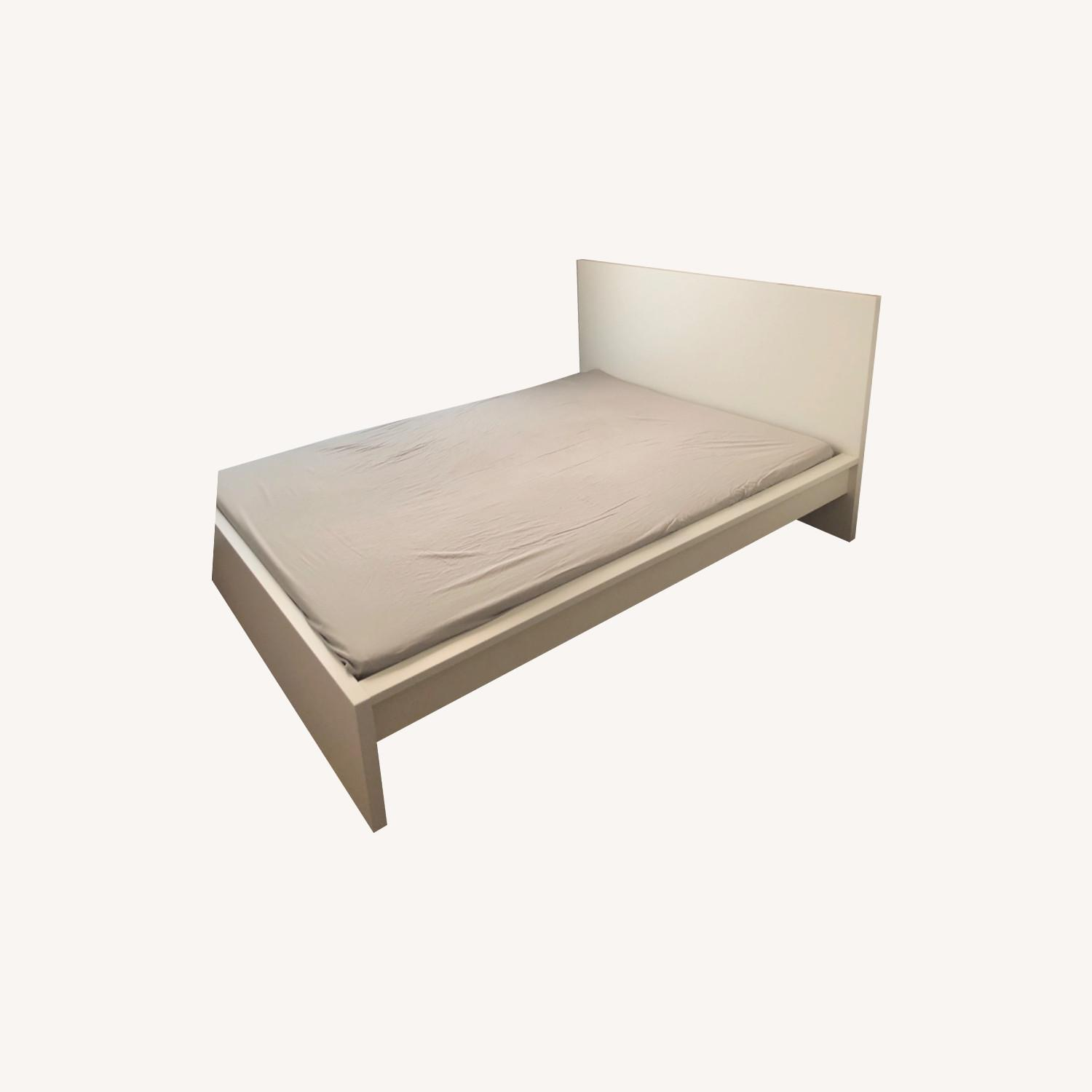 IKEA Malm White Queen Size Bed - image-0