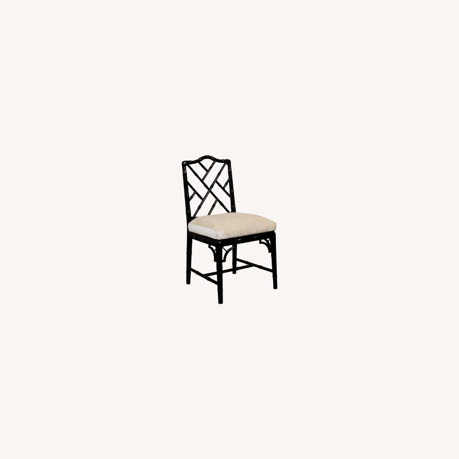 Jonathan Adler Black Lacquer Chippendale Chair - image-0