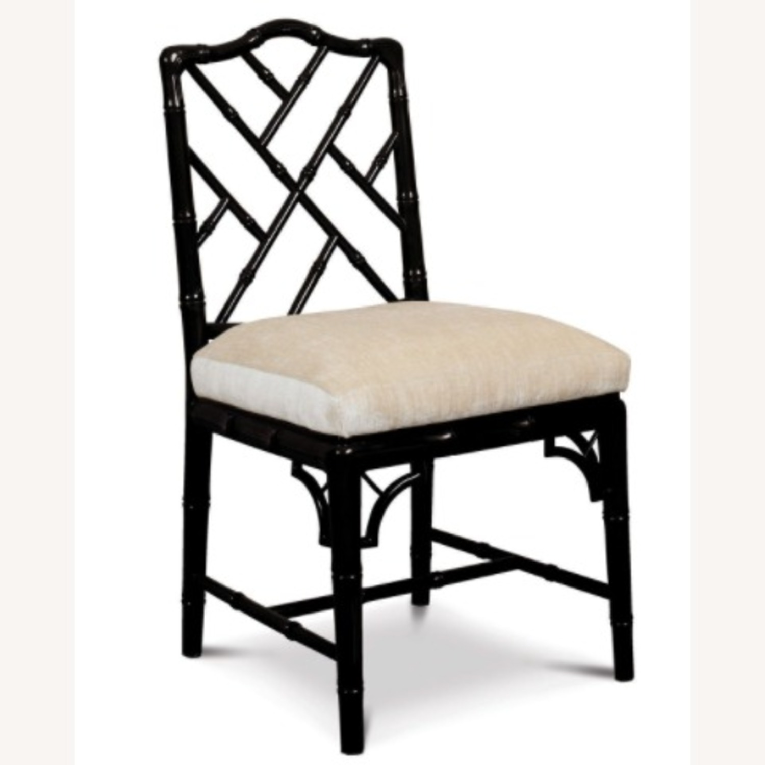 Jonathan Adler Black Lacquer Chippendale Chair - image-1
