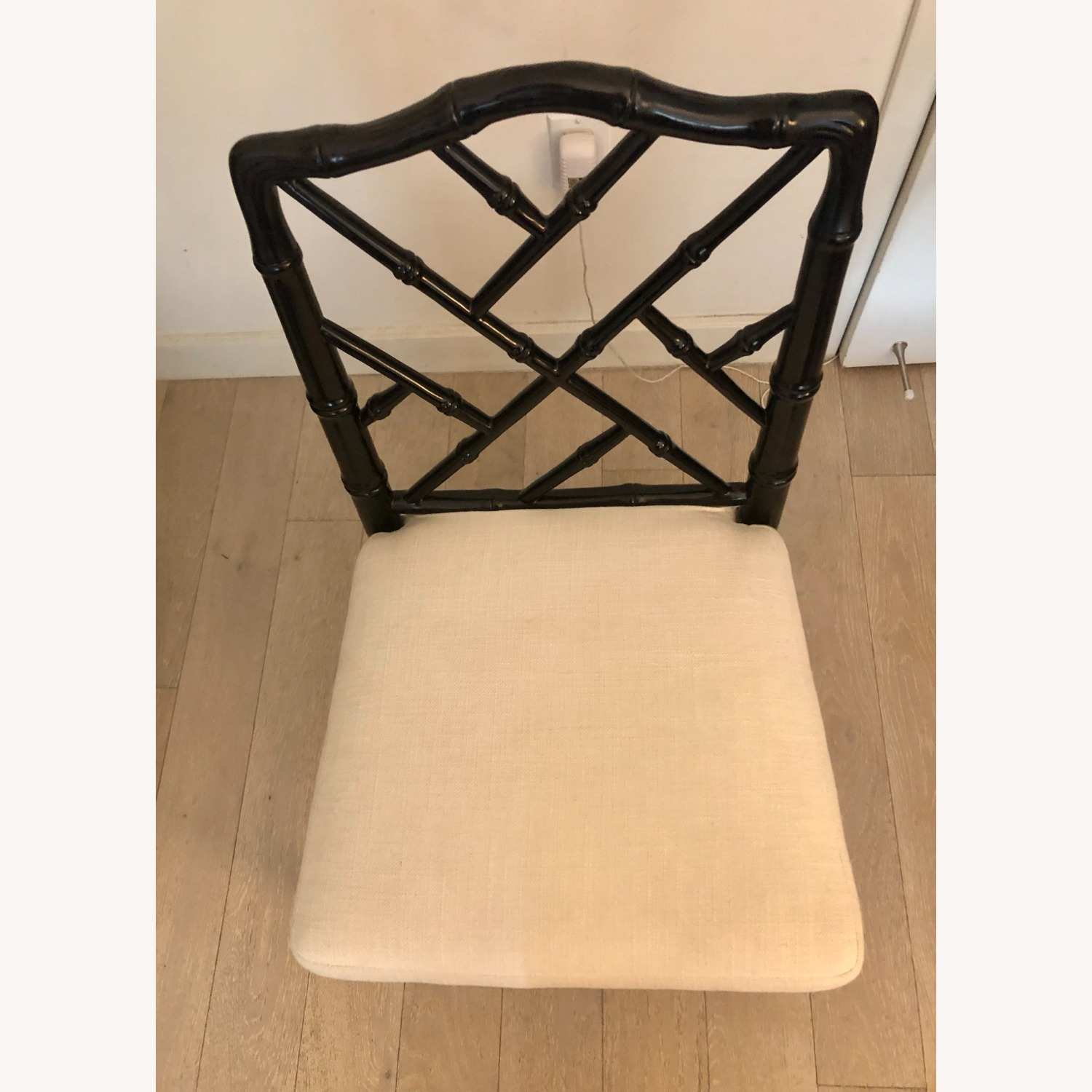 Jonathan Adler Black Lacquer Chippendale Chair - image-3