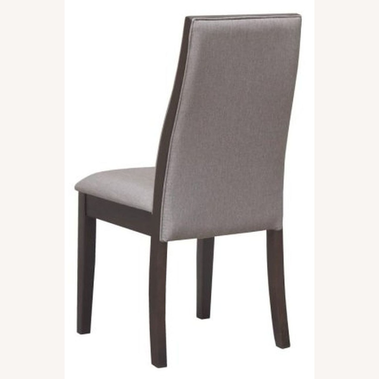 Dining Chair In Grey Fabric & Espresso Wood Finish - image-3