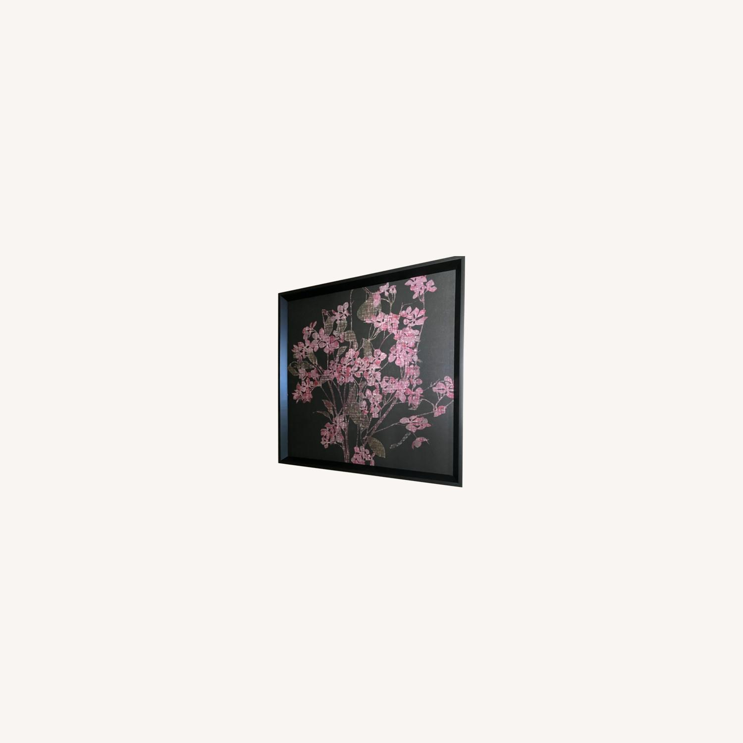 Pink & Black Floral Canvas Wall Art - image-3