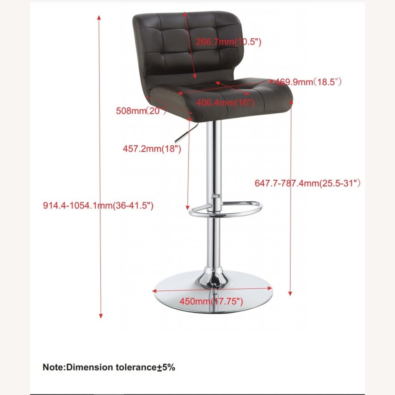 Bar Stool In Brown Leatherette W/ Adjustable Base - image-6