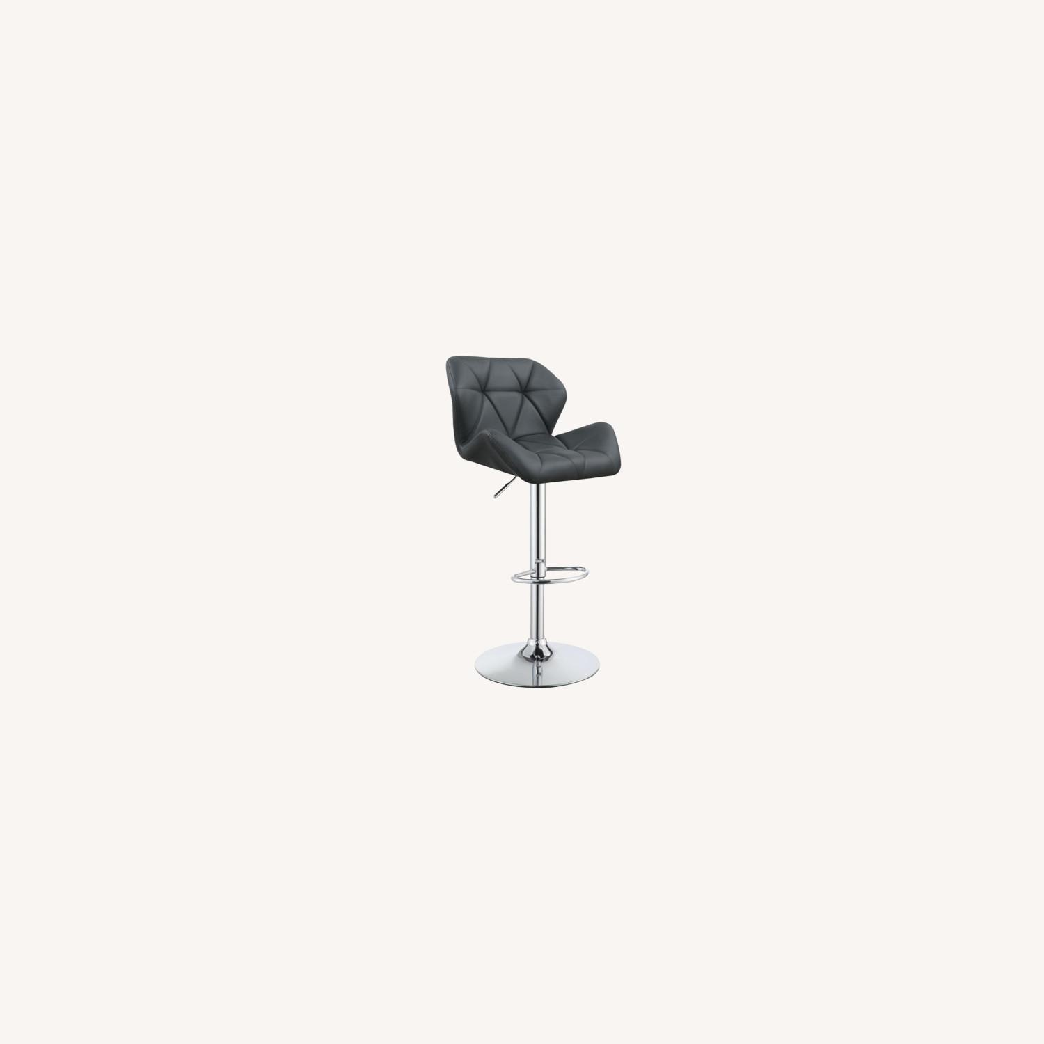 Adjustable In Grey Leather W/ Chrome Base - image-4