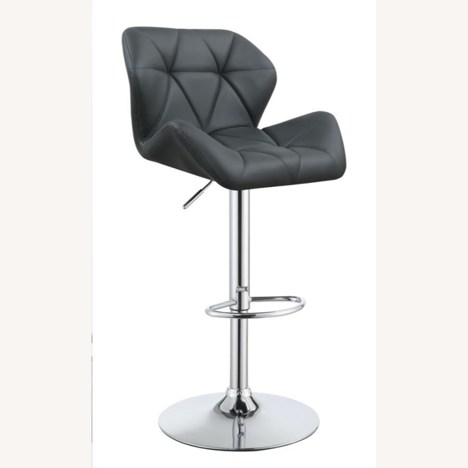 Adjustable In Grey Leather W/ Chrome Base - image-0
