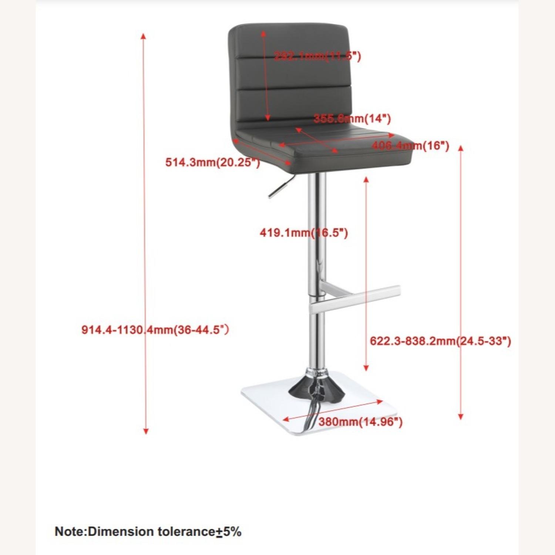 Modern Adjustable Bar Stool In Grey Leatherette - image-5