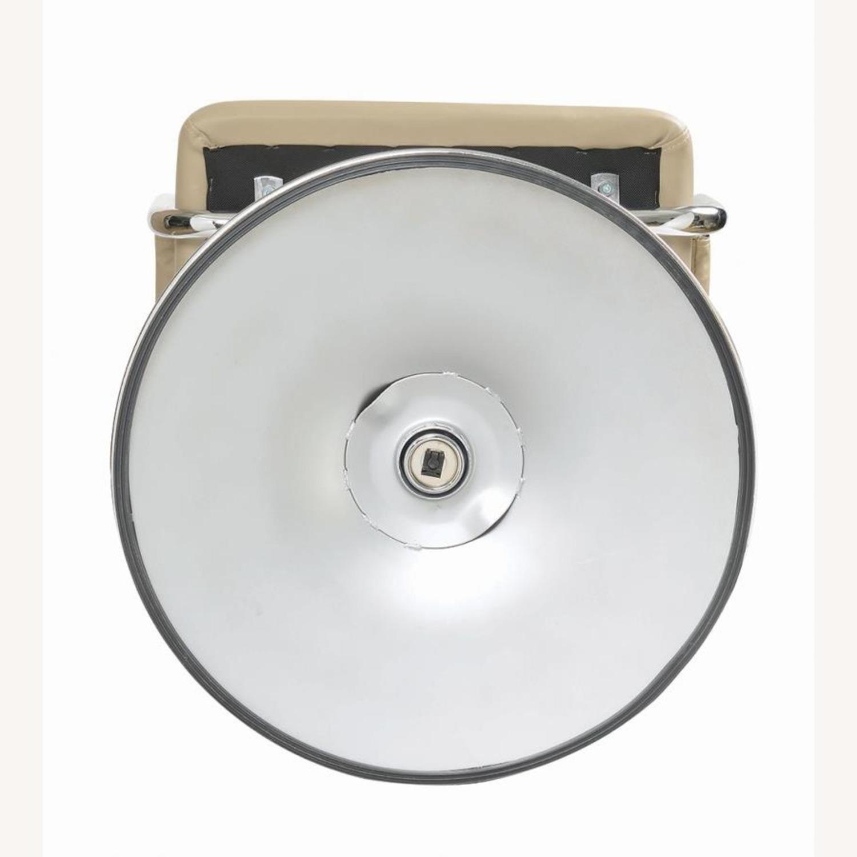 Bar Stool W/ Adjustable Base In Beige Leatherette - image-4