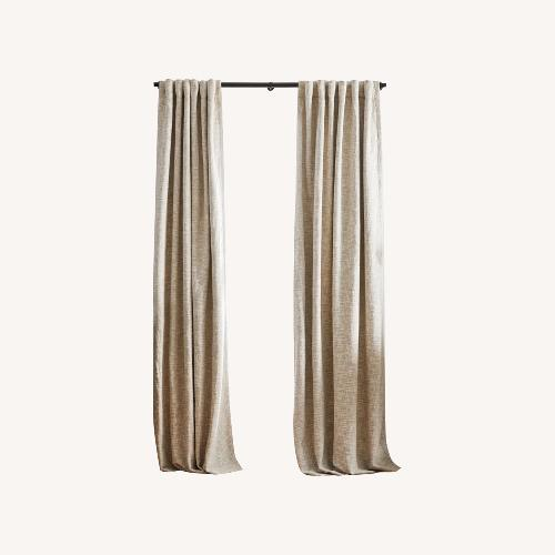 Used West Elm Ivory Blackout Curtain Panel Set of 2 for sale on AptDeco