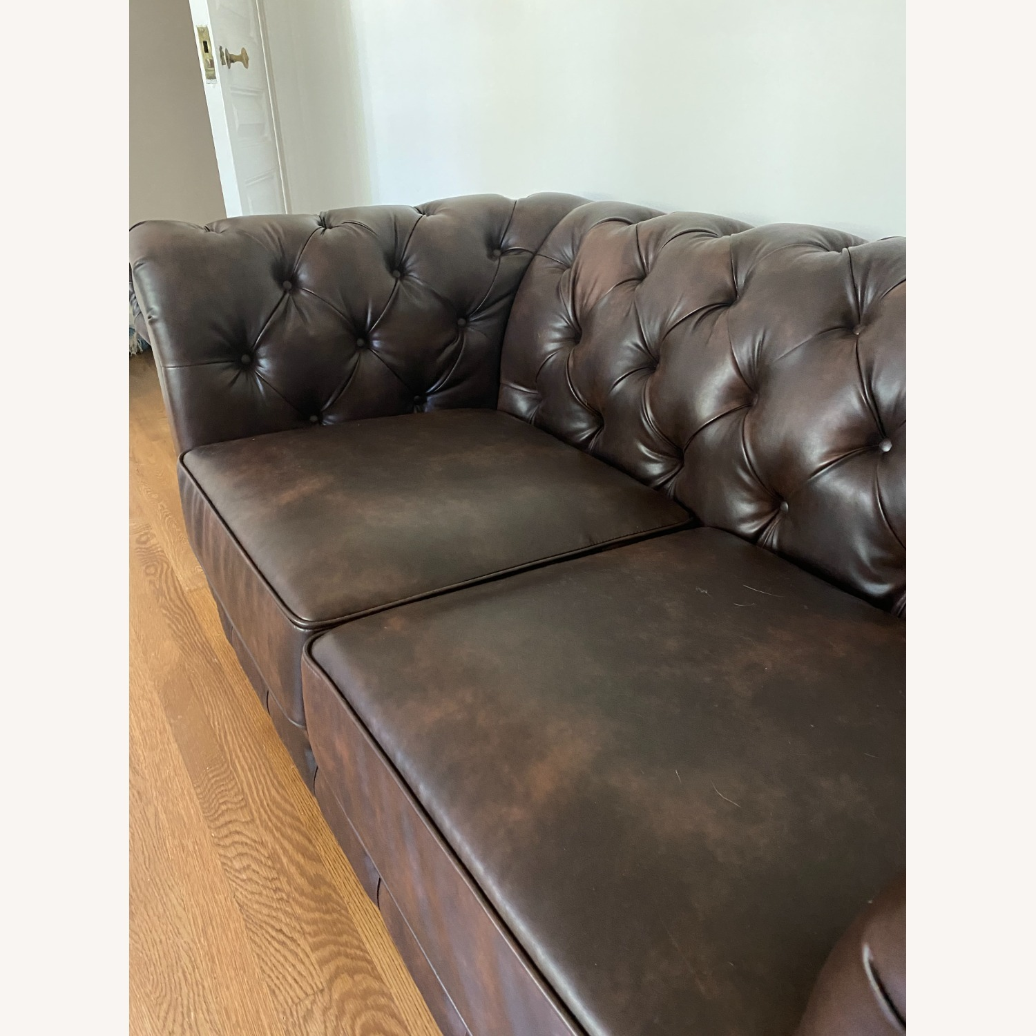 Wayfair Faux Leather Rolled Arm Loveseat - image-4