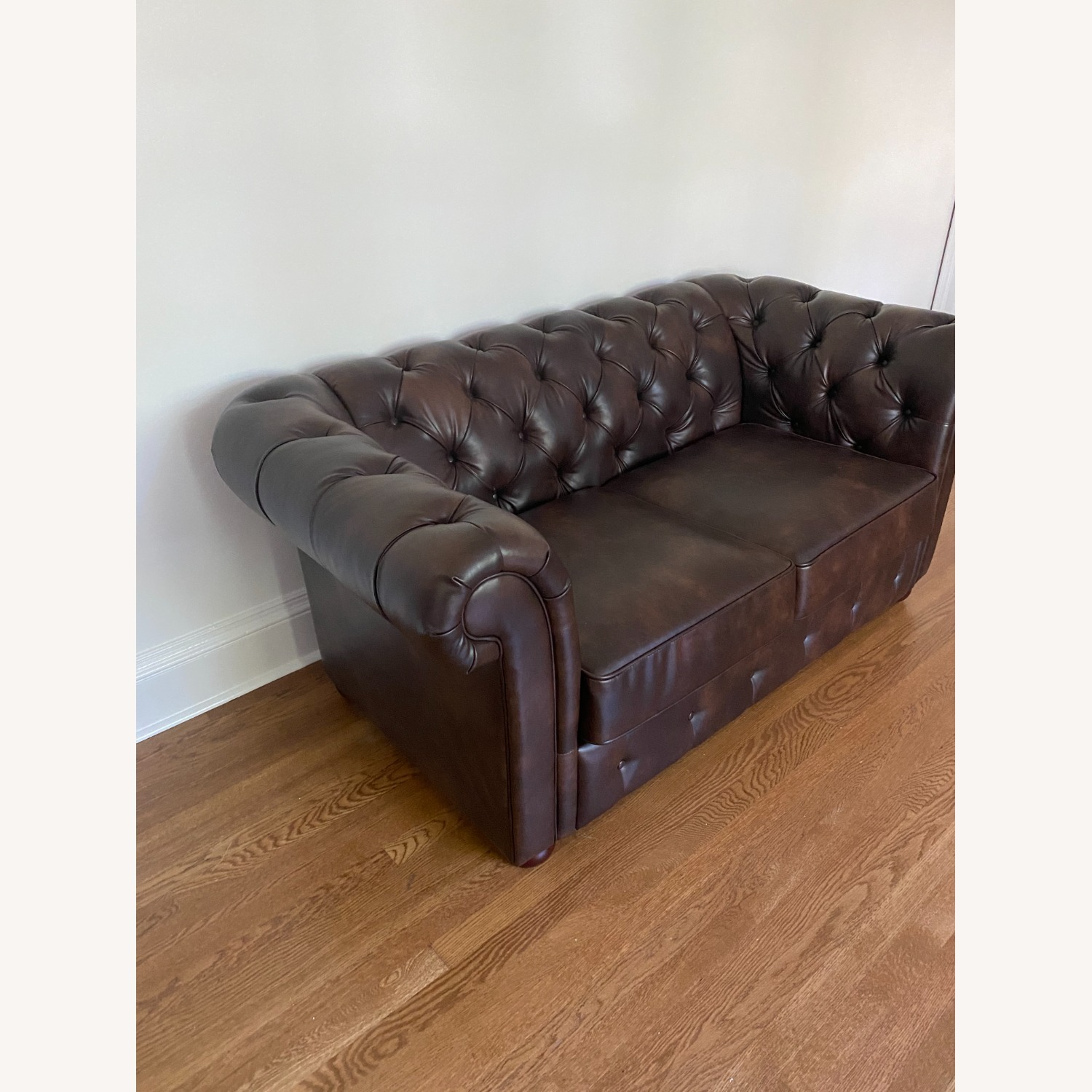 Wayfair Faux Leather Rolled Arm Loveseat - image-3
