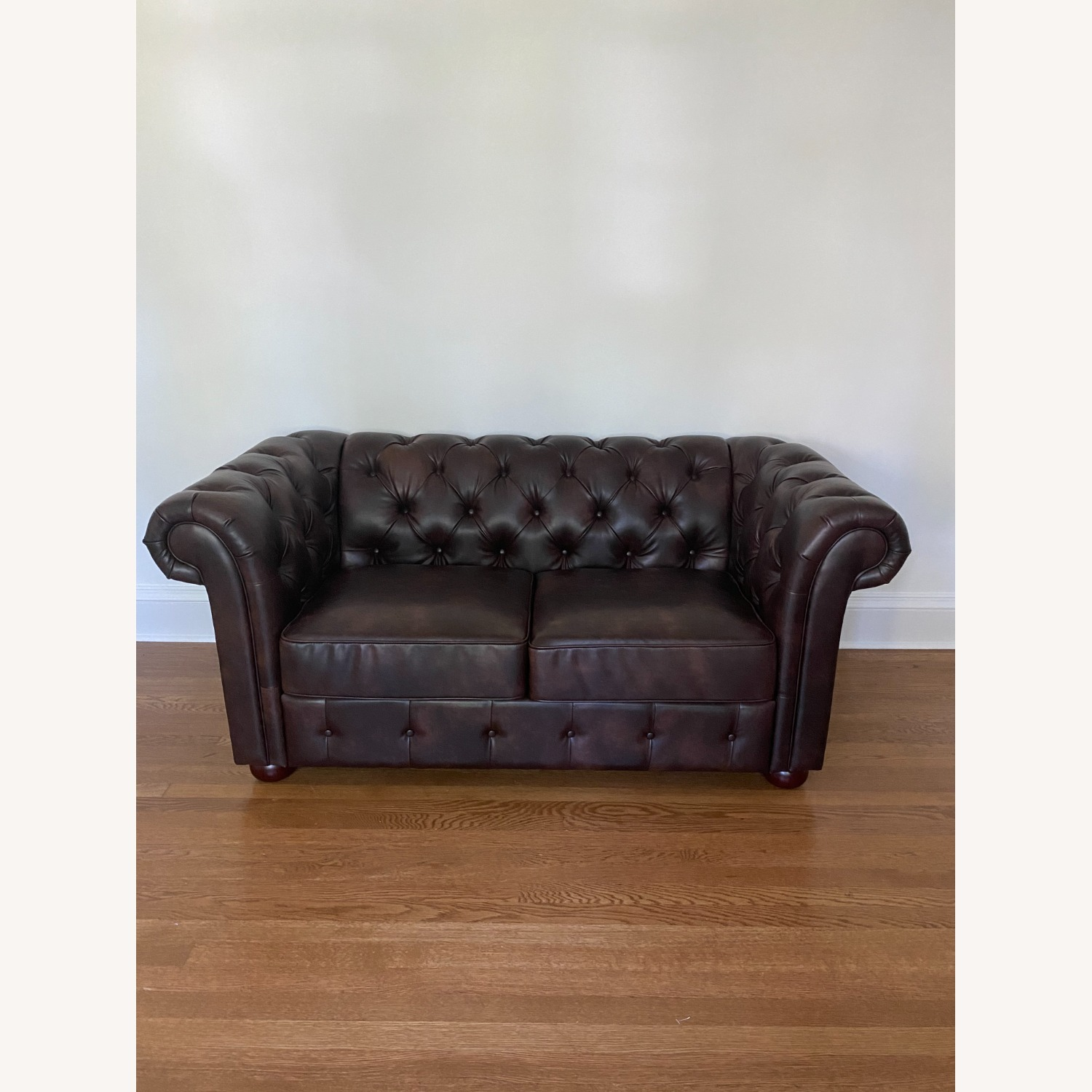 Wayfair Faux Leather Rolled Arm Loveseat - image-1