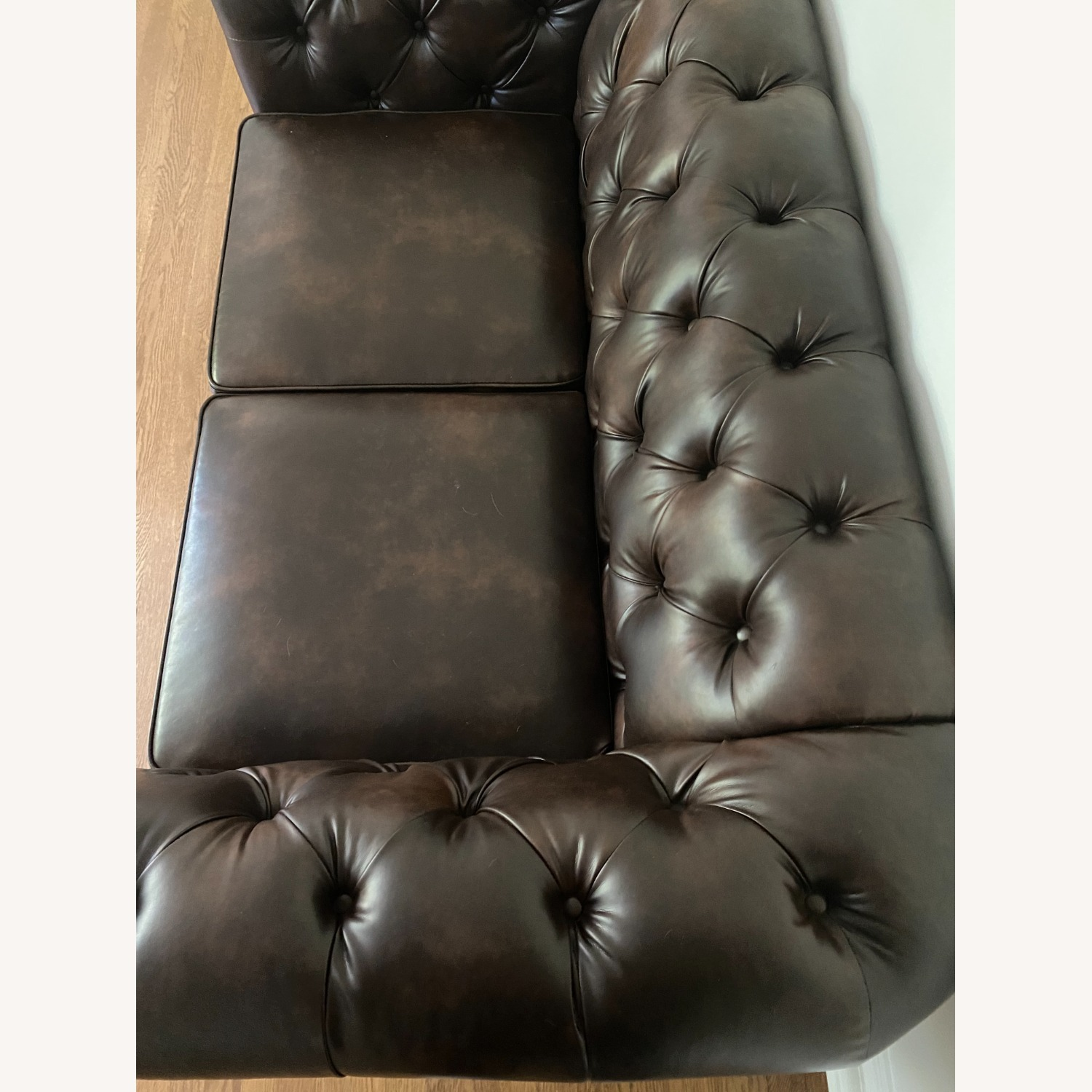 Wayfair Faux Leather Rolled Arm Loveseat - image-5