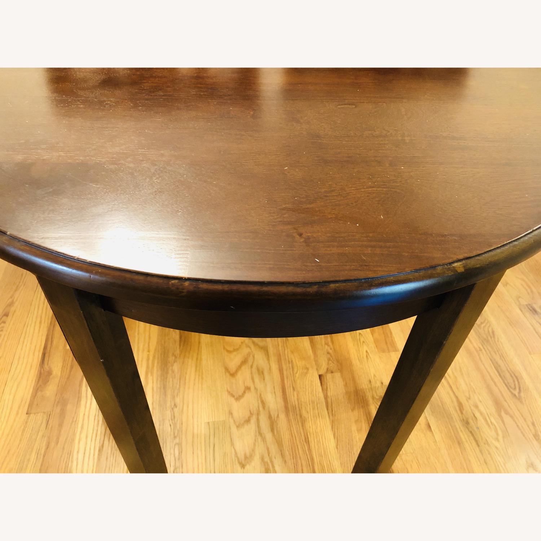 Oak Vintage Crescent Console Table - image-3